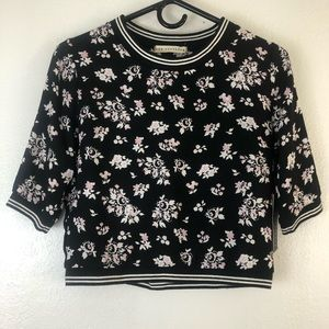One Clothing floral print round neck long sleeve S